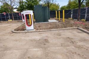 Fixing Tesla Charging Station
